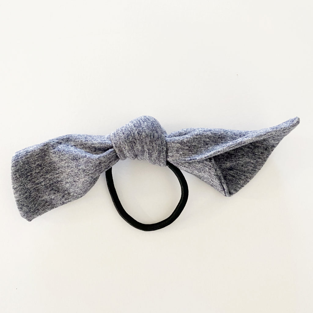Heathered Denim Blue Hair Tie