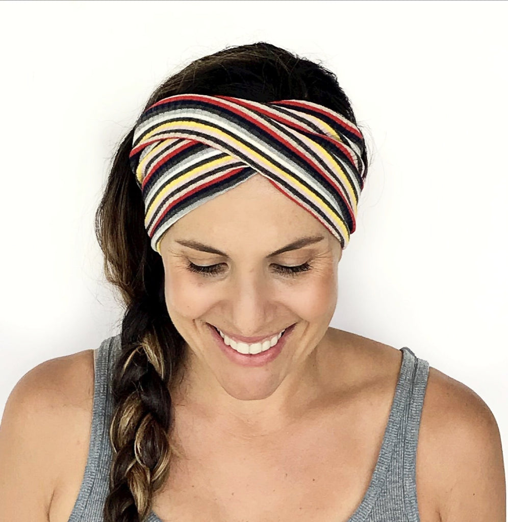 Cali Stripes Double Twist Headband