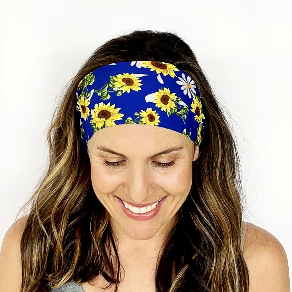 Sunflower Sky Workout Headband