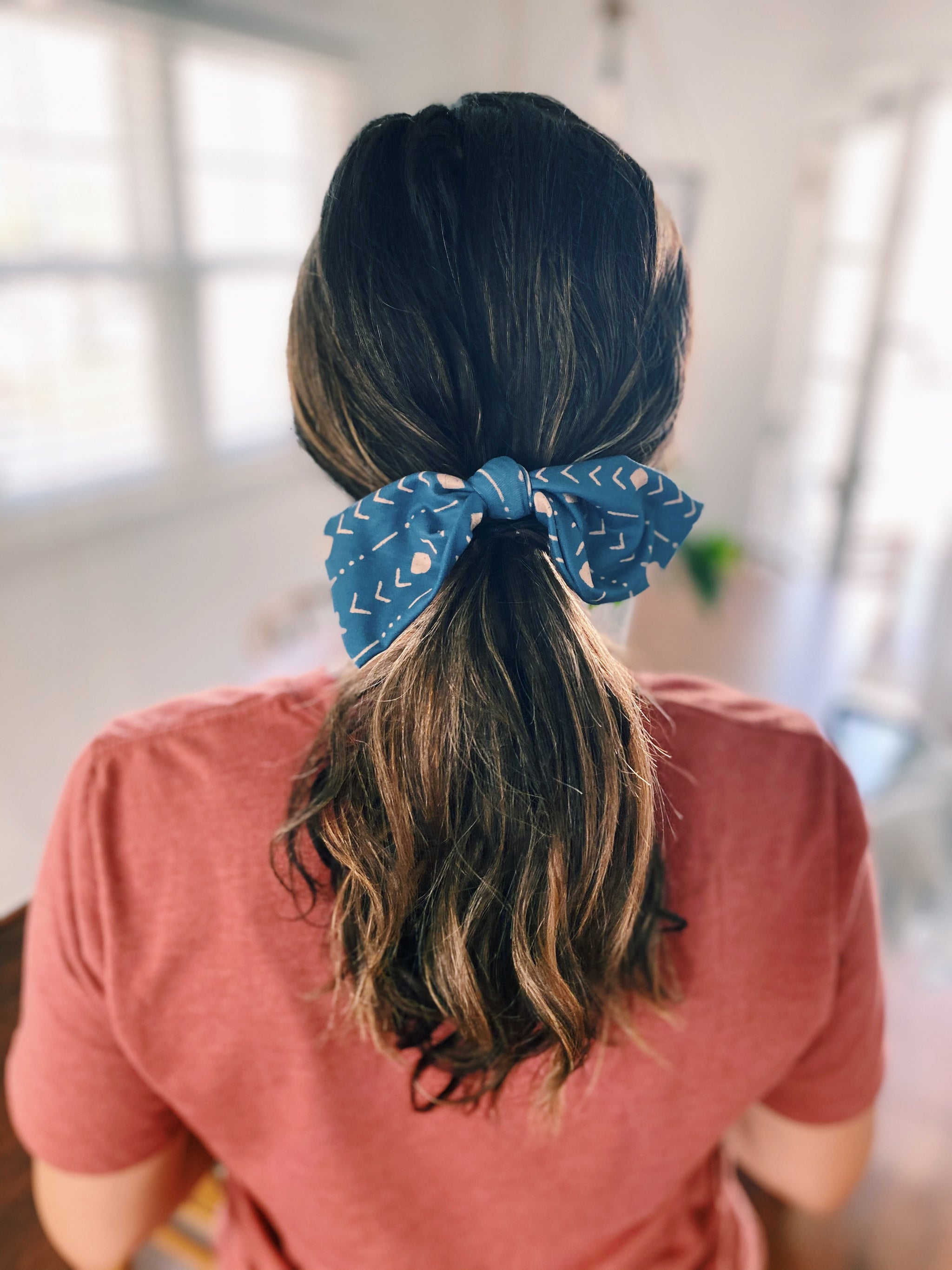 Sunflower Knot Hair Tie