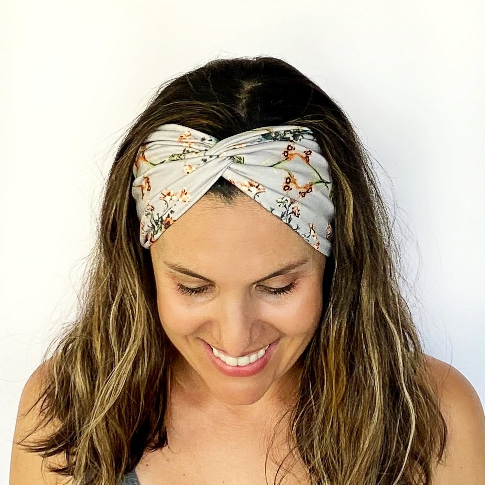 Sweet Floral Twisty Turban Headband