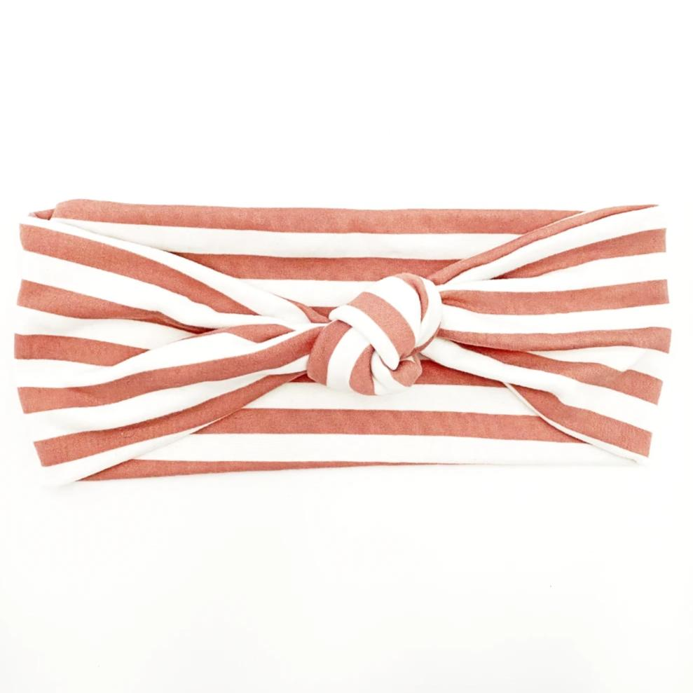 Blush Stripe Knotted Headband