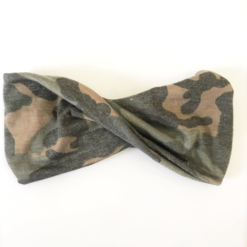 Camo Double Twist Headband