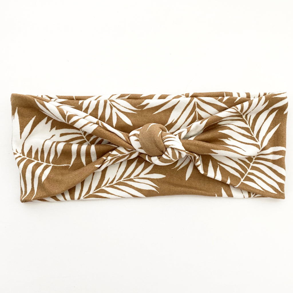Tan Palms Knotted Headband
