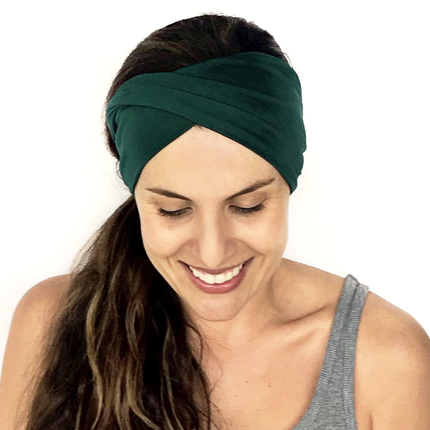 Emerald Green Double Twist Headband