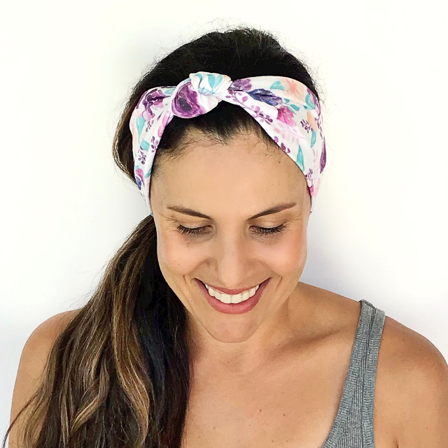 Lilac Bloom Knotted Headband