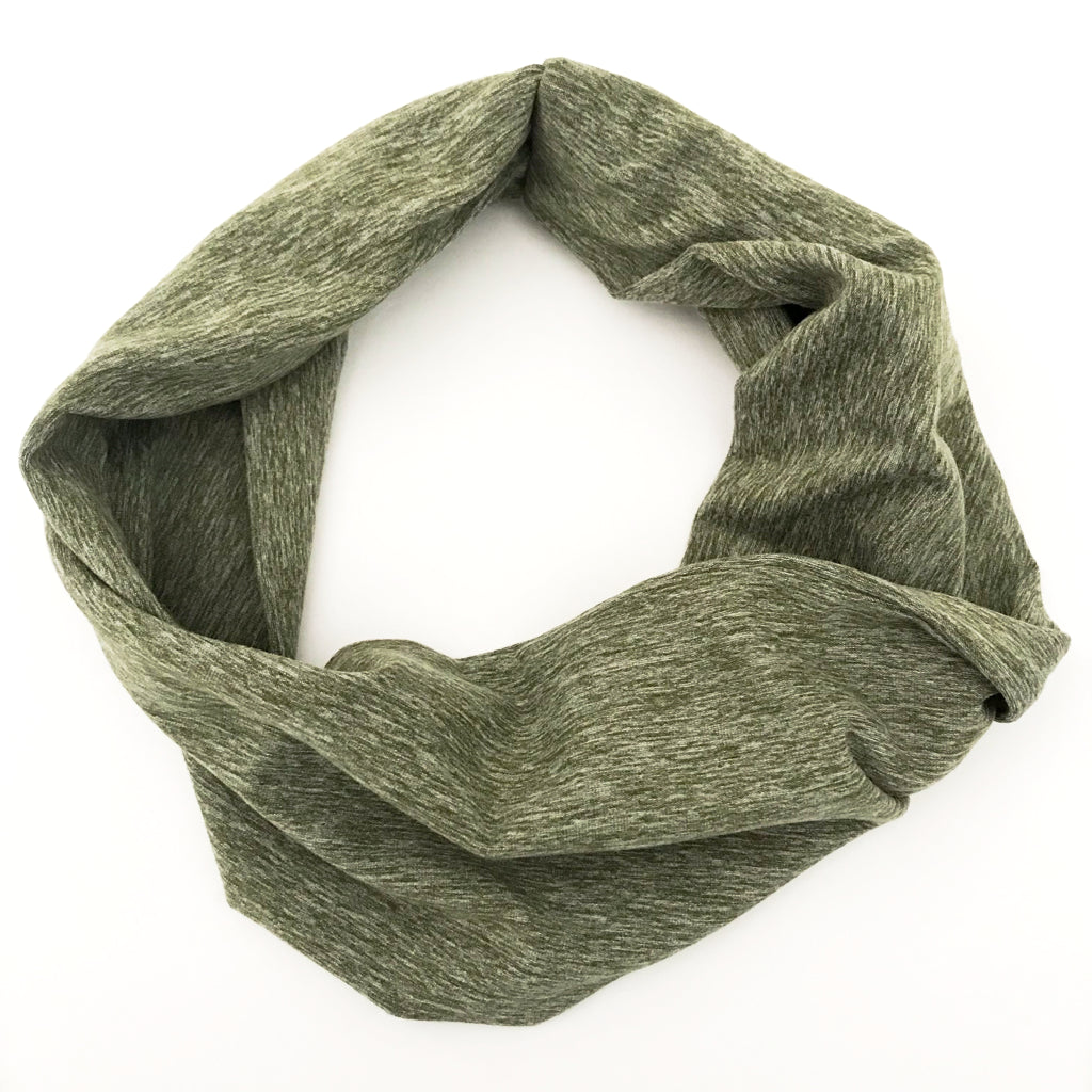 Dusty Green Heathered Double Twist Headband
