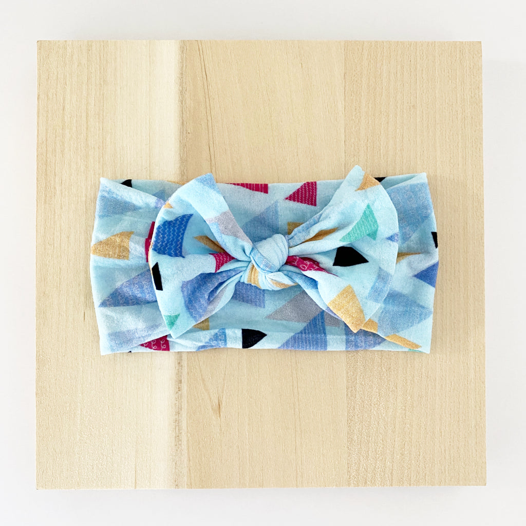 Triangles Bow Headband
