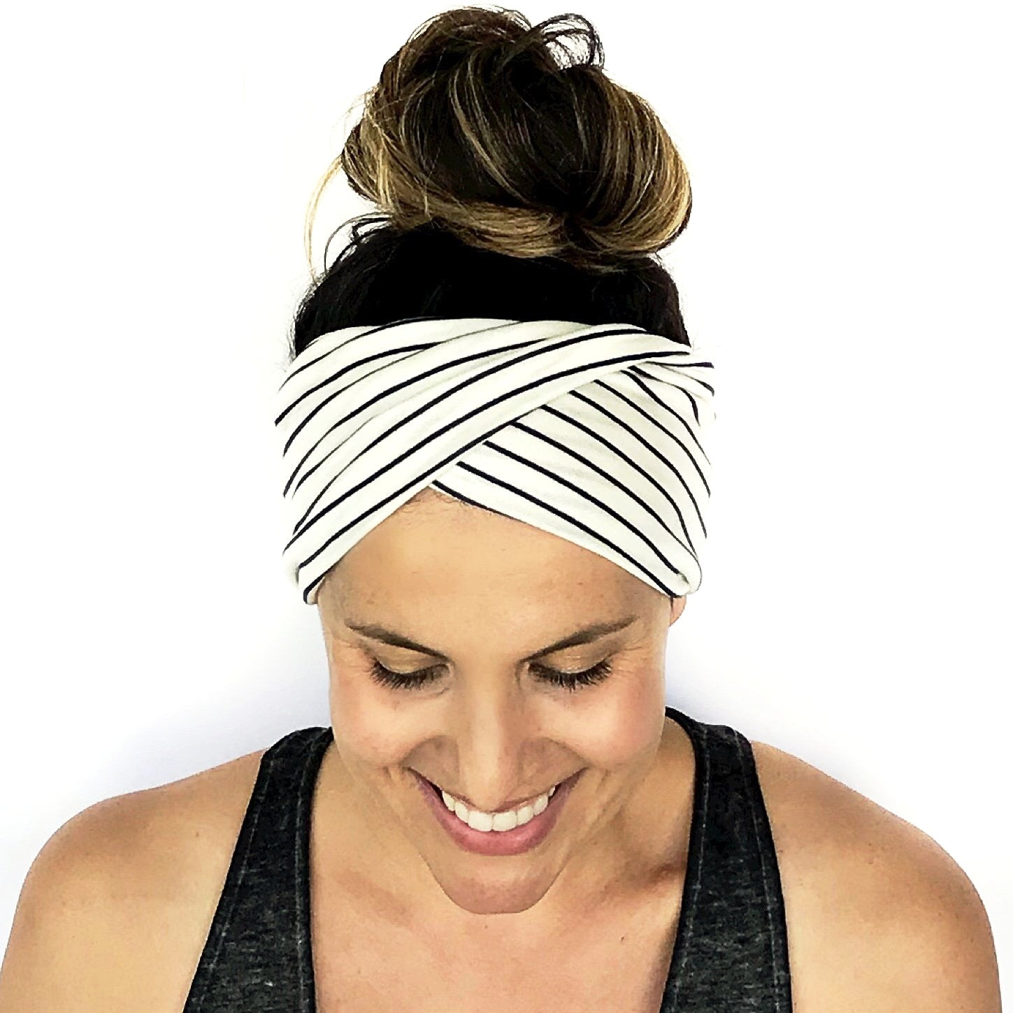Simple Stripe Double Twist Headband