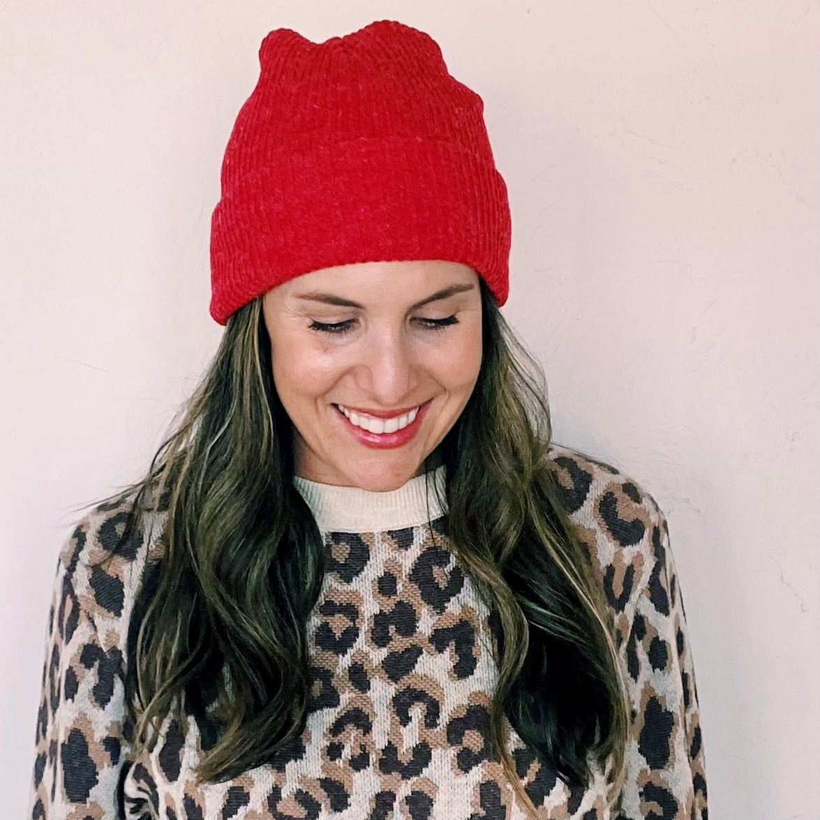 Holiday Red Beanie