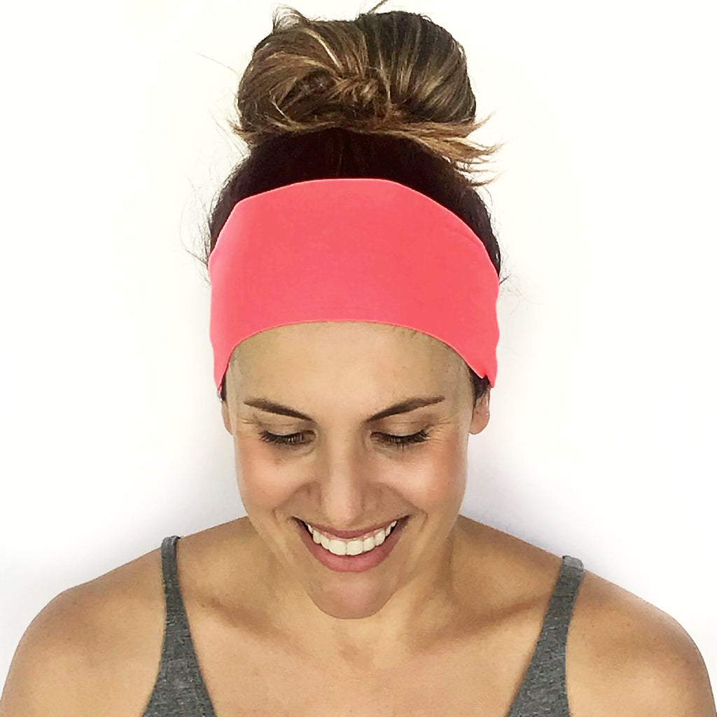 Brightest Coral Workout Headband