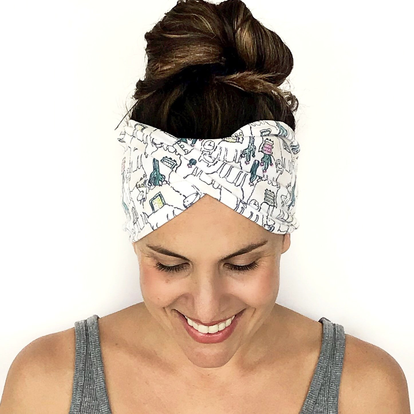 Llama In The Desert Double Twist Headband