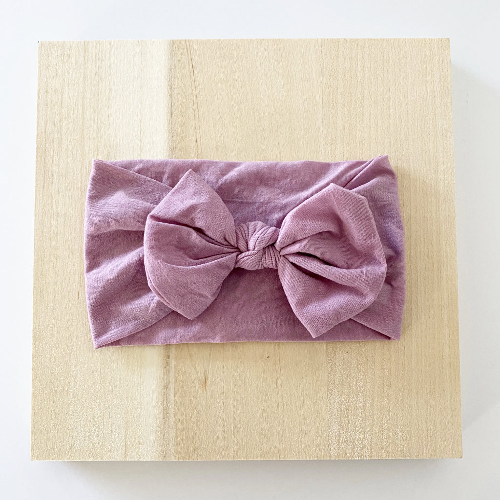 Dusty Lavender Bow Headband