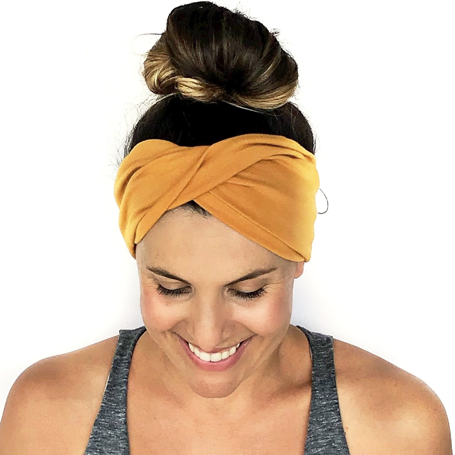 Golden Yellow Sunset Twist Headband