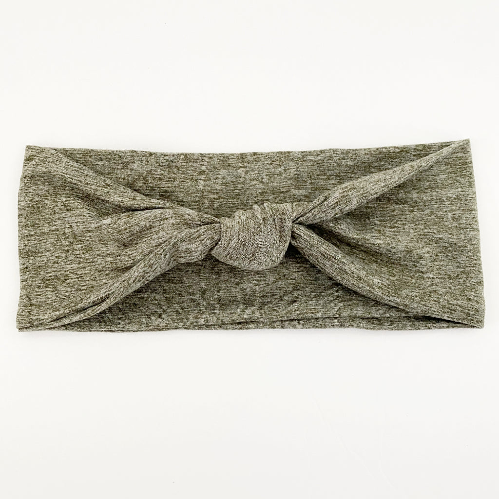 Heather Olive Knotted Headband