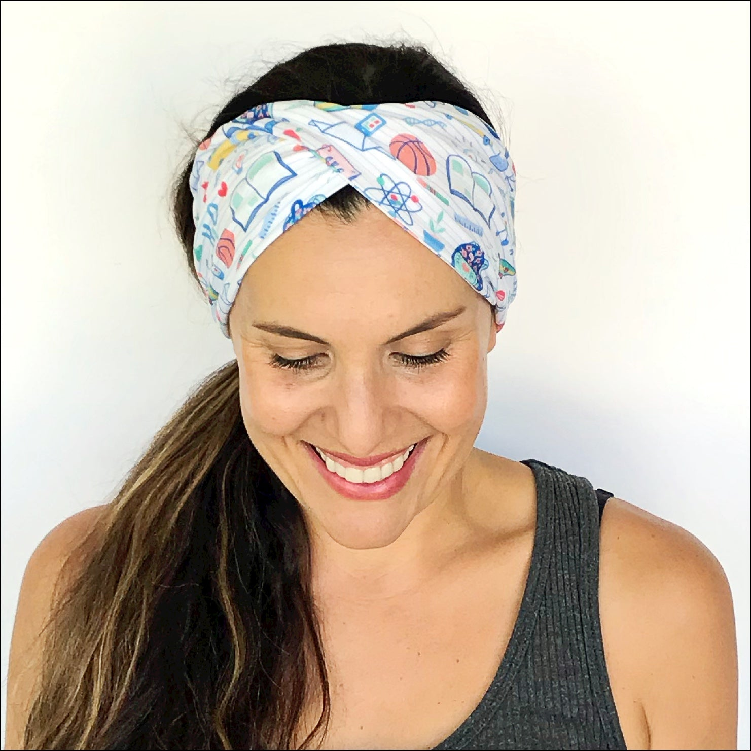 Teachers Are Awesome Double Twist Headband