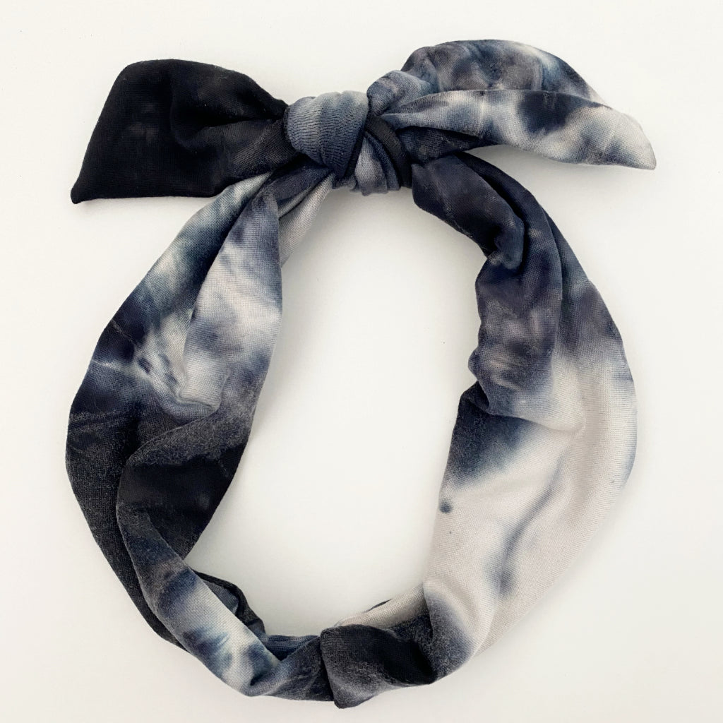 Midnight Tie Dye Tie Headband
