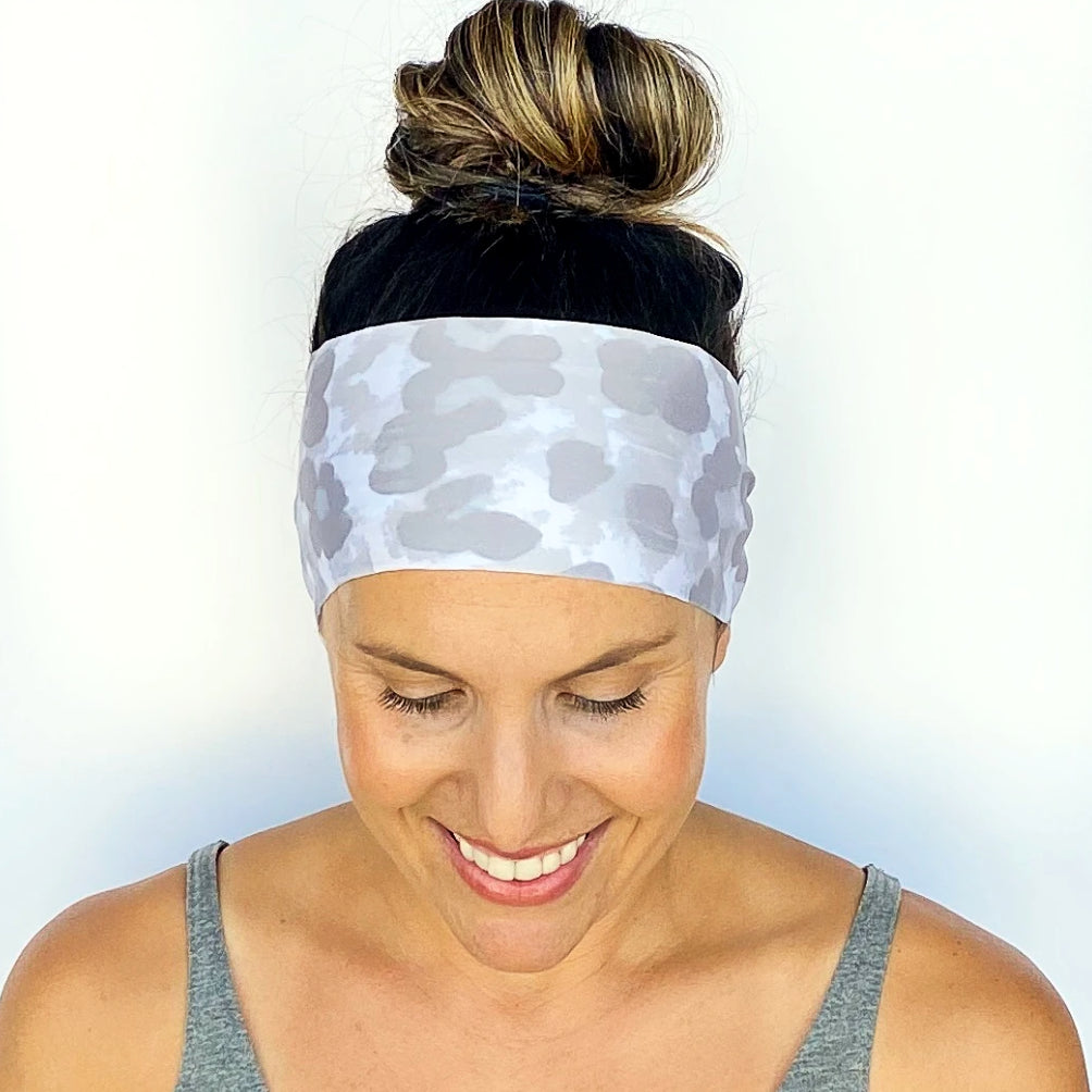 Snow Leopard Workout Headband