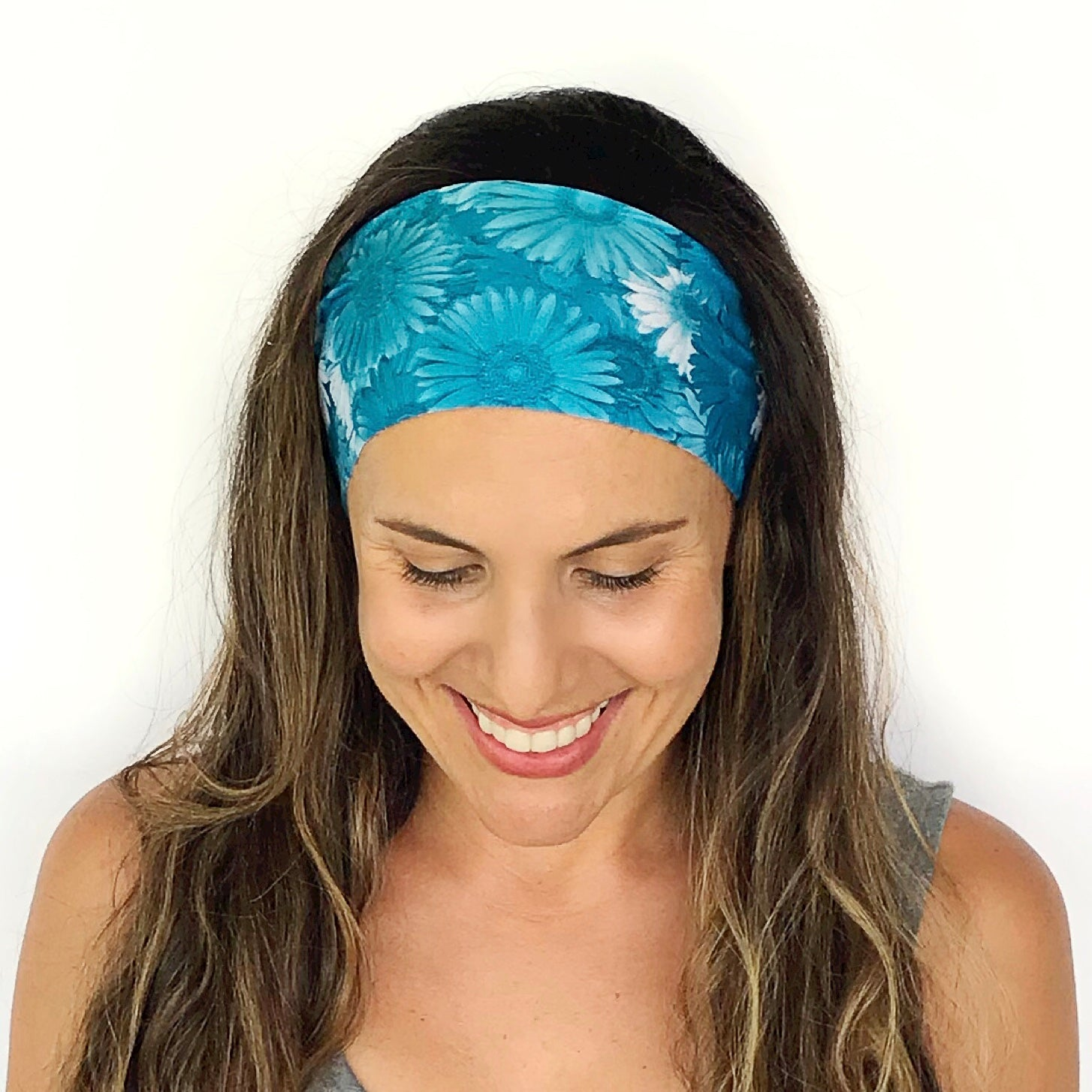 Blue Daisy Workout Headband