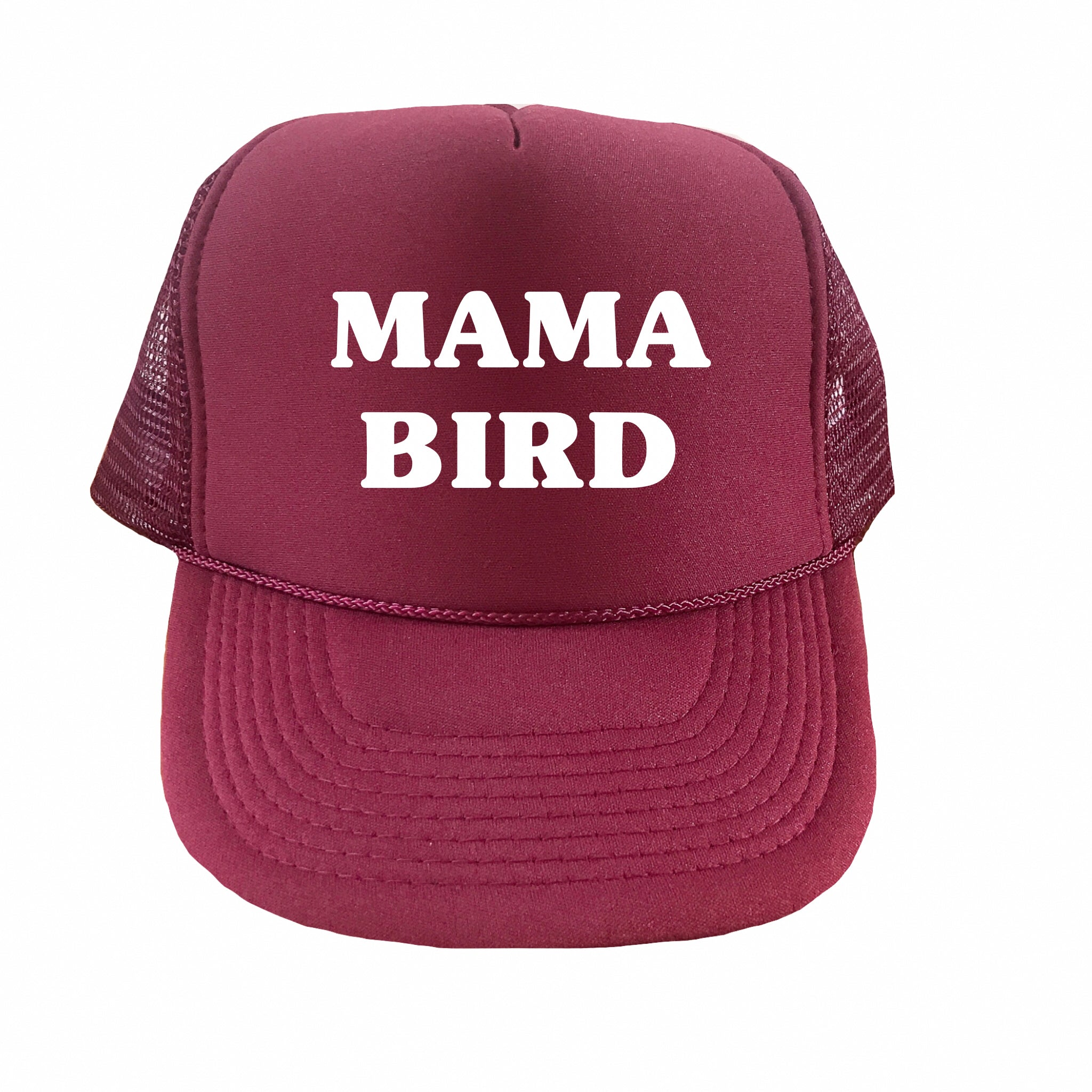 Mama Bird Trucker Hat (Burgundy)