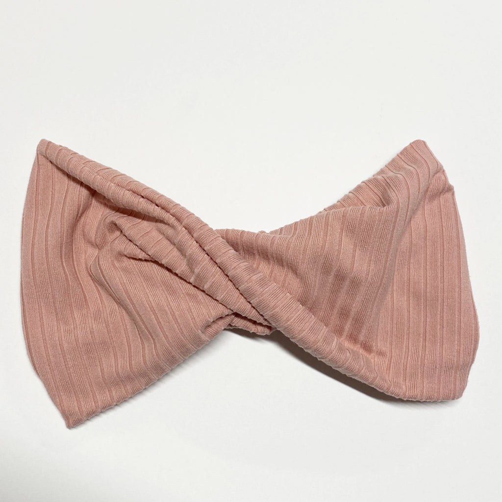 Blush Ribbed Twist Headband