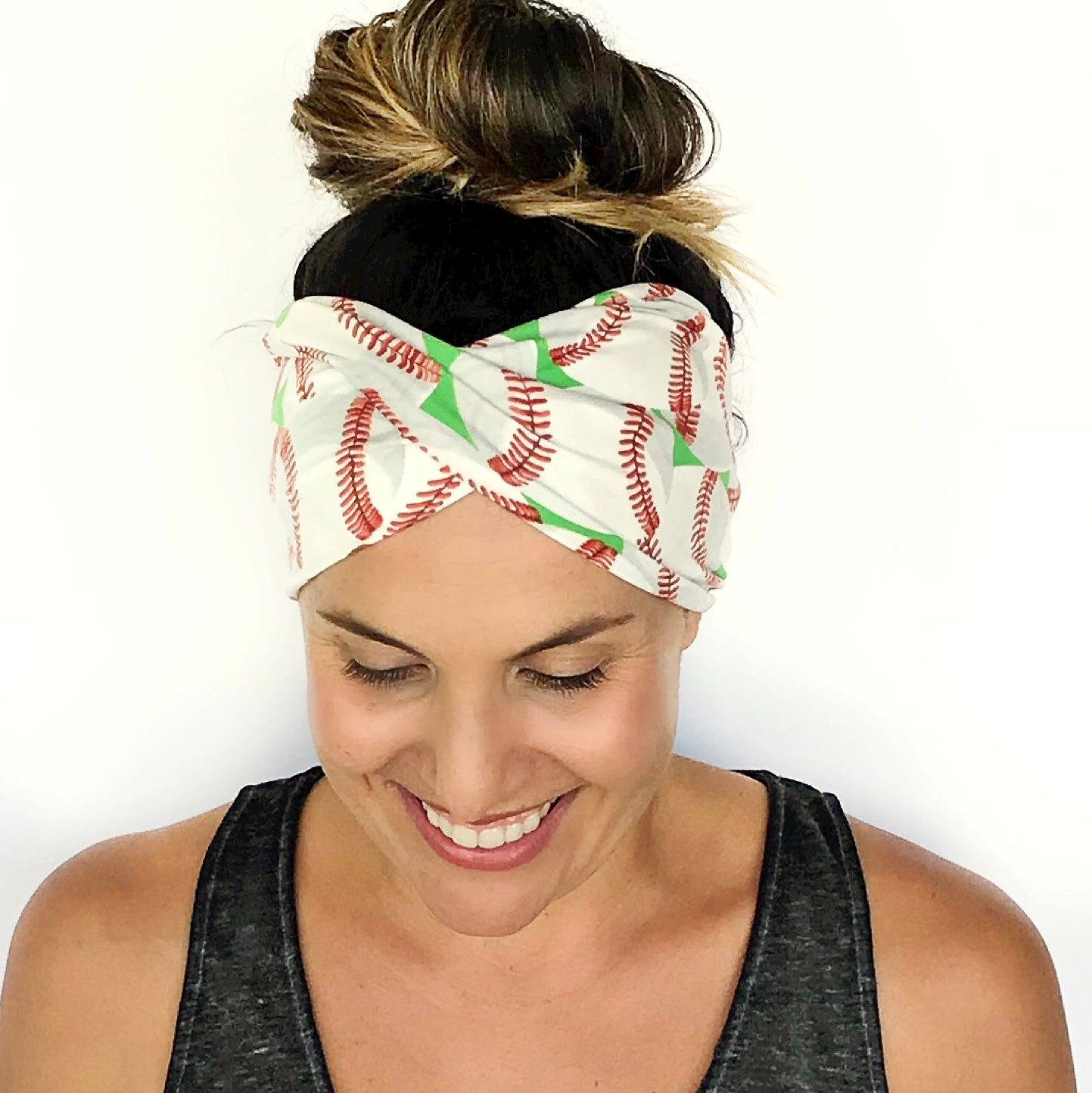 Baseball Love Double Twist Headband