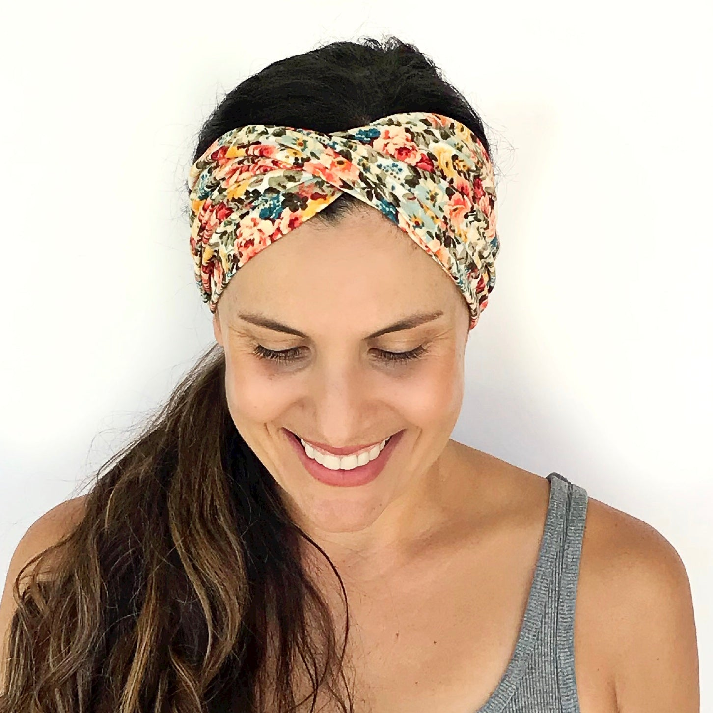 Fall Florals Double Twist Headband