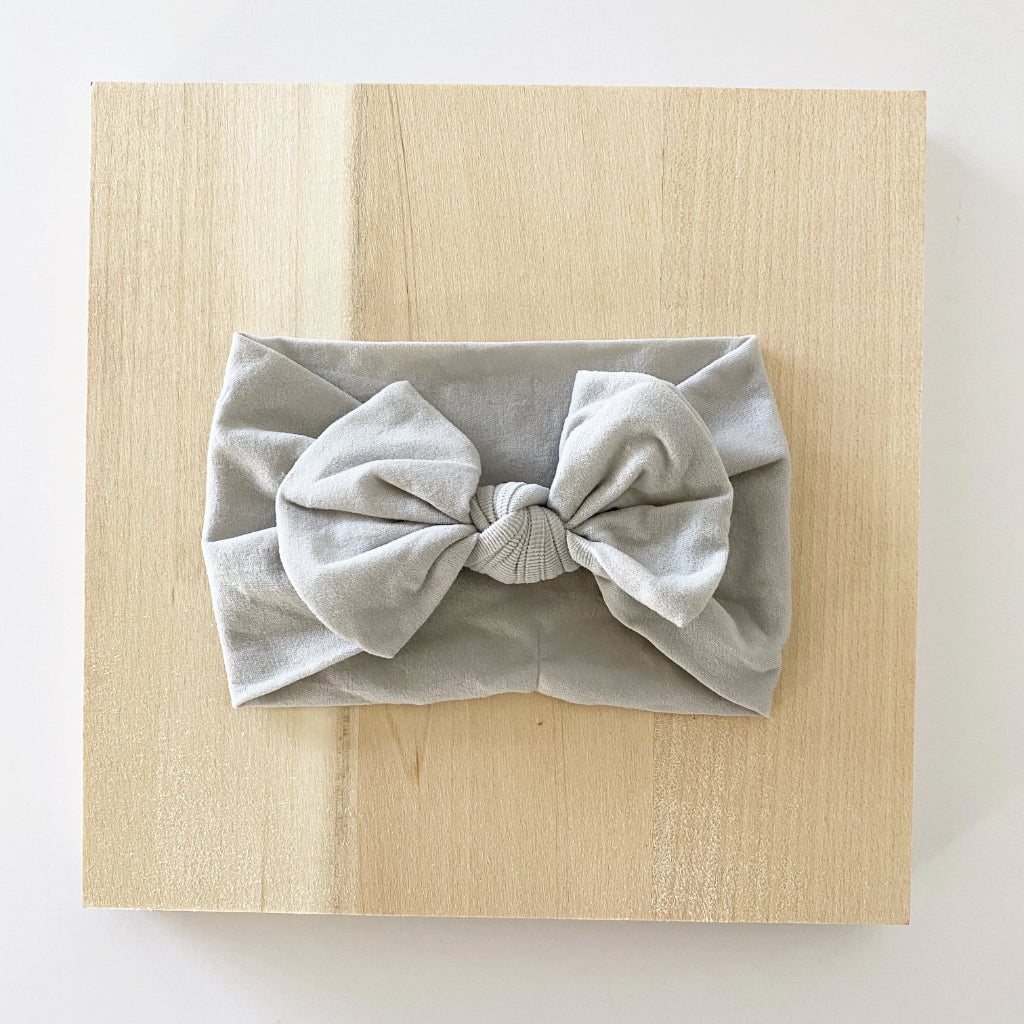 Ash Grey Bow Headband