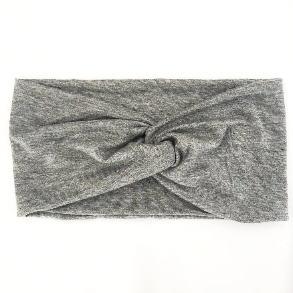 Grey Twisty Turban Headband