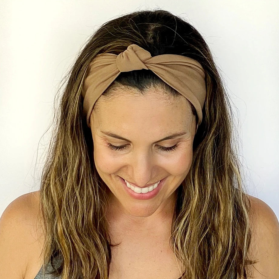 Mocha Latte Knotted Headband