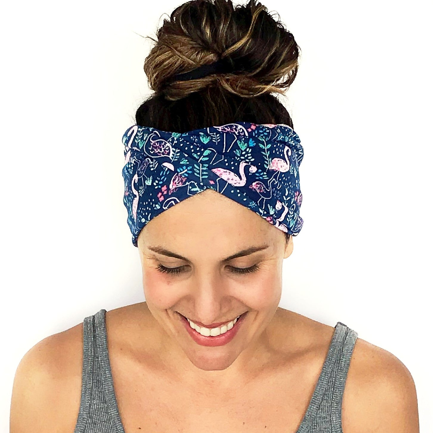 Flamingle Double Twist Headband