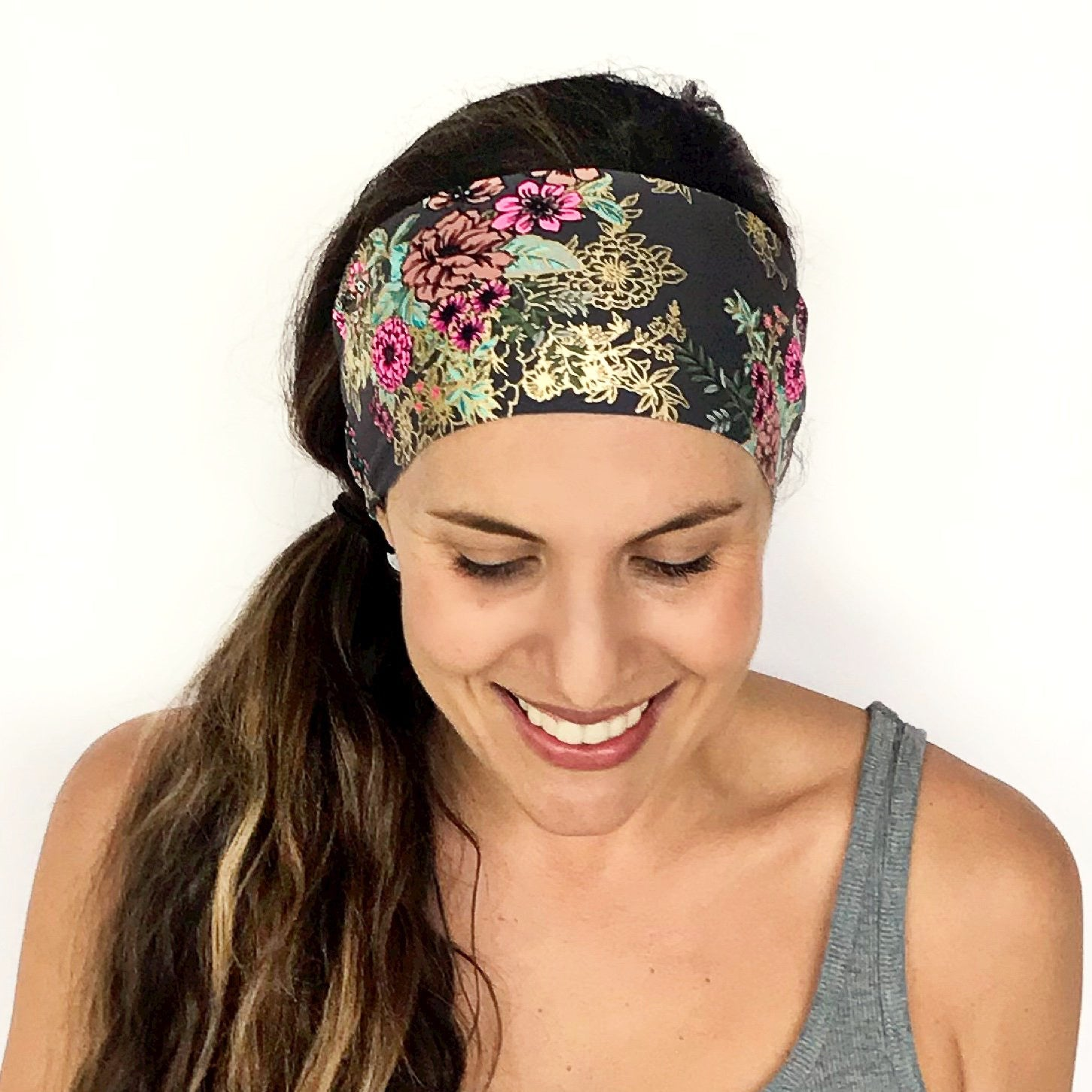 Golden Blooms Workout Headband