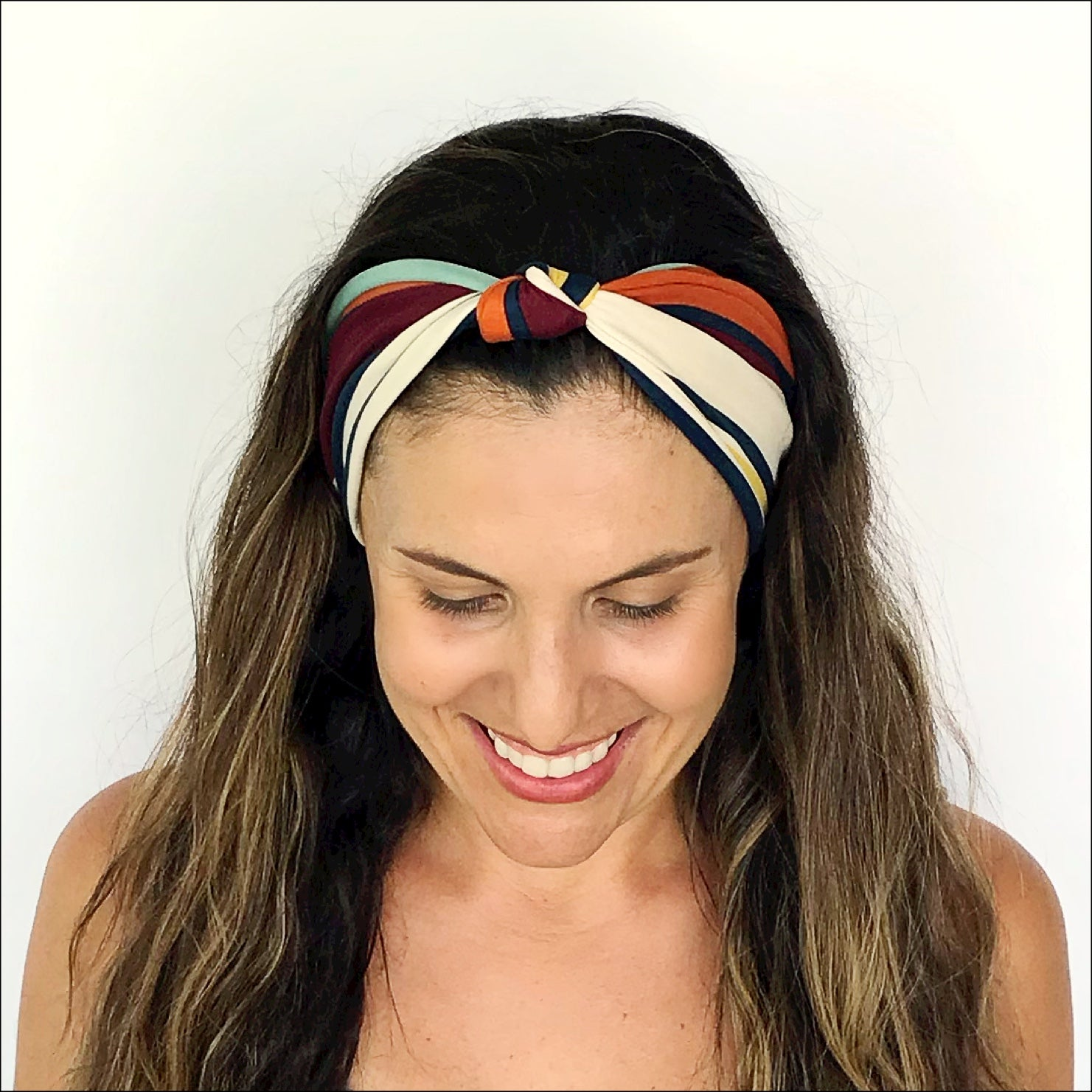 Autumn Stripe Knotted Headband