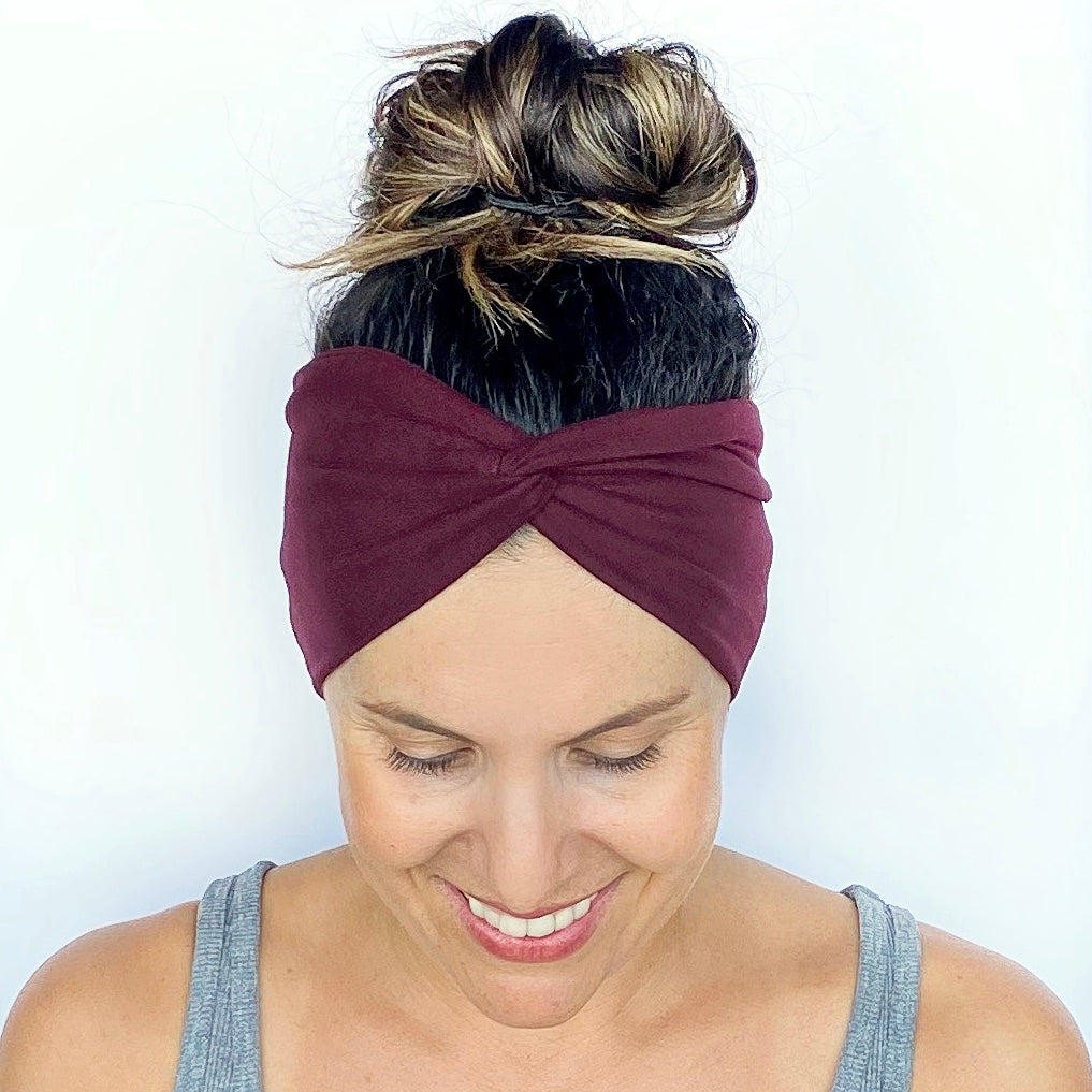 Deep Ruby Turban Headband