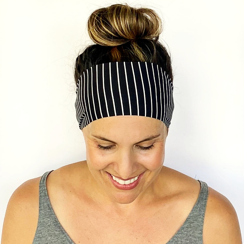 Vertical Stripe Workout Headband