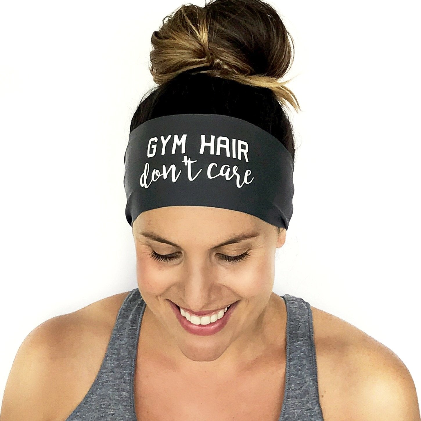 Gym Hair Don't Care Scripted Headband