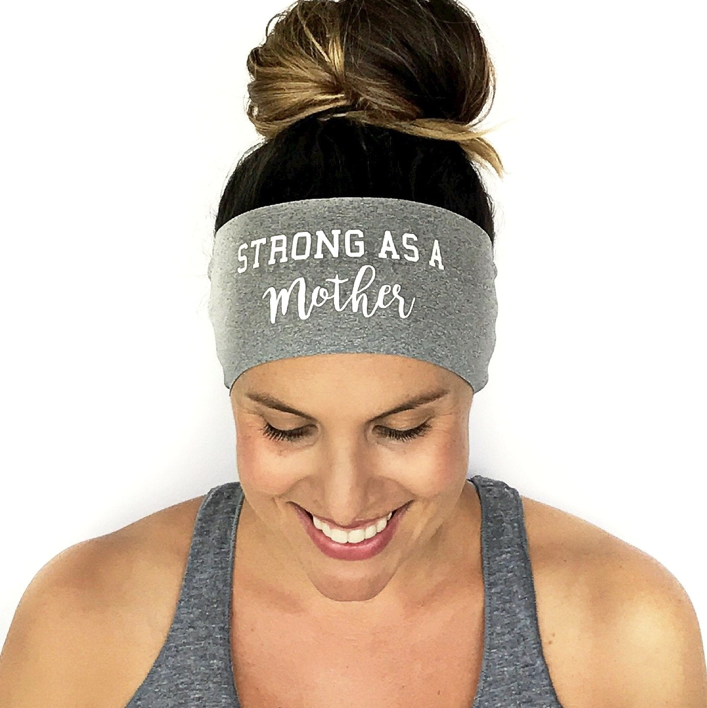 Strong As A Mother Scripted Headband