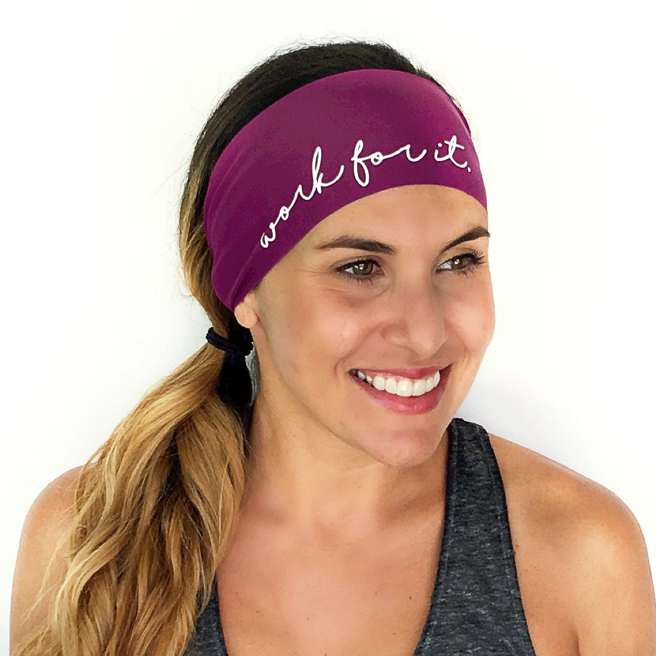 Work For It Scripted Headband