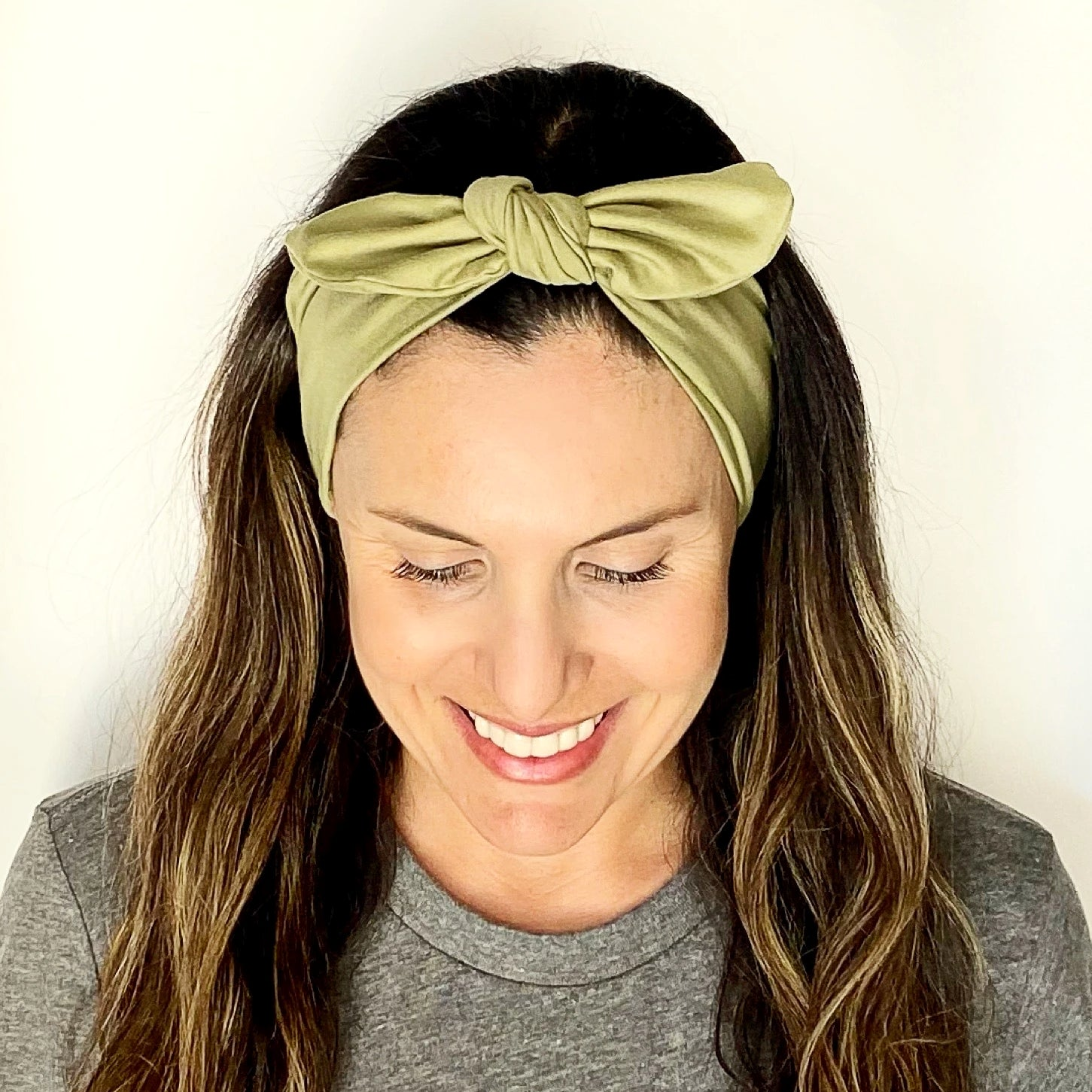 Dusty Green Tie Headband