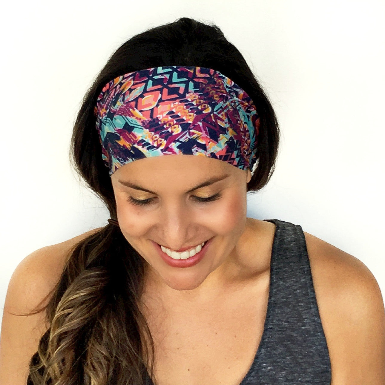 Bali Print Workout Headband Alt view