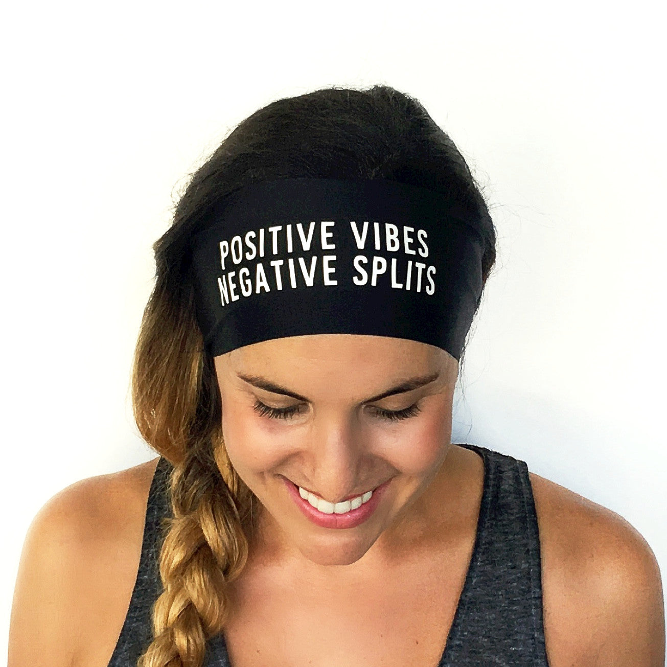 Positive Vibes Scripted Headband