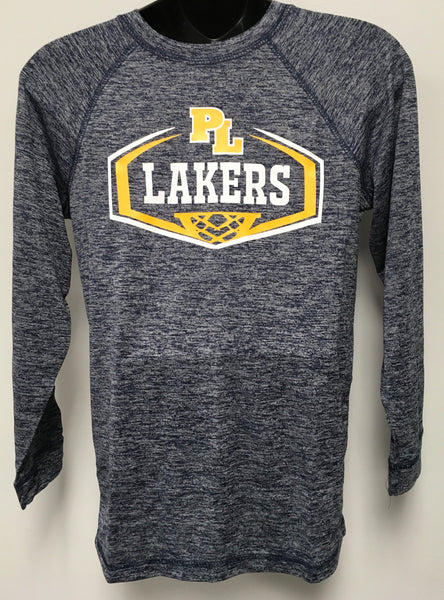 Navy Heather Electrify L/S Basketball Shirt