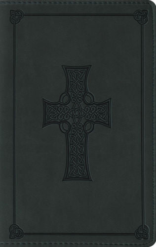 ESV Large Print Compact Bible (TruTone, Olive, Celtic Cross Design)