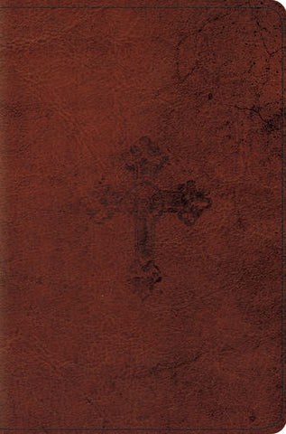ESV Compact Bible (TruTone, Walnut, Cross)