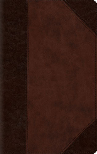 ESV Large Print Compact Bible TruTone®, Brown/Walnut, Portfolio Design