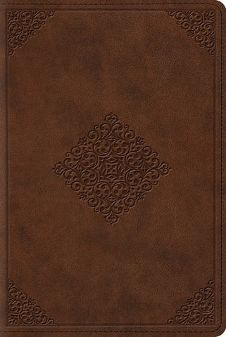 ESV Study Bible, Personal Size, (Brown/Ornament Design)