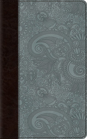 ESV Thinline Bible TruTone®, Chocolate/Blue, Garden Design
