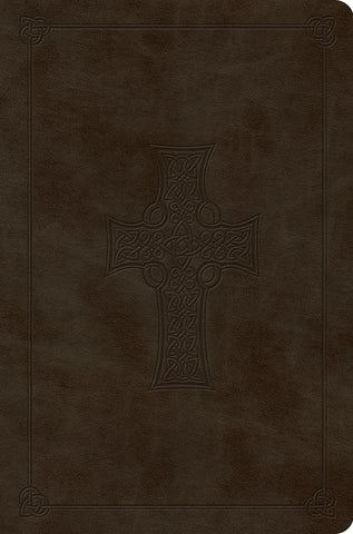 ESV Value Compact Bible  TruTone®, Olive, Celtic Cross Design