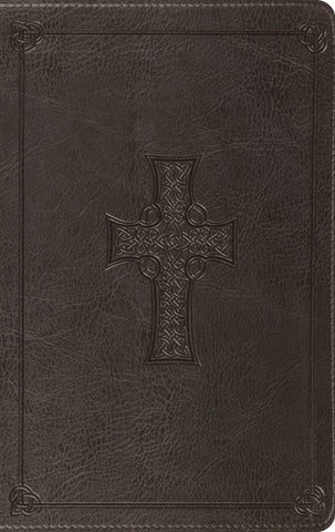 ESV Value Thinline Bible  TruTone®, Charcoal, Celtic Cross Design