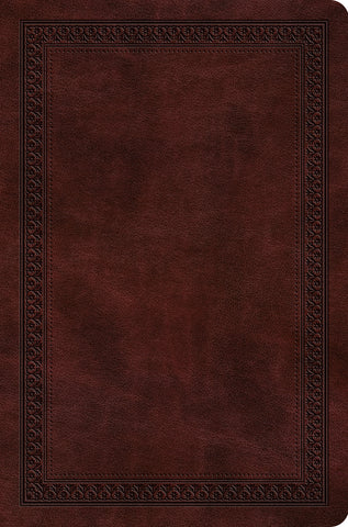 ESV Value Compact Bible  TruTone®, Mahogany, Border Design